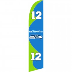 Seattle Seahawks 12th Man Windless Swooper Flag