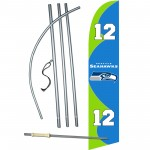 Seattle Seahawks 12th Man Windless Swooper Flag Bundle