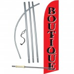 Boutique Red Windless Swooper Flag Bundle