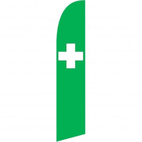 Green Cross Windless Swooper Flag