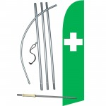 Green Cross Swooper Flag Bundle