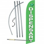Dispensary Green Windless Swooper Flag Bundle