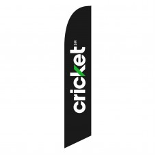 Cricket Black Windless Swooper Flag