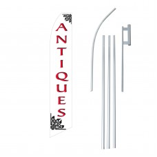 Antiques Red/White Swooper Flag Bundle