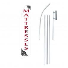 Mattresses Red/White Swooper Flag Bundle