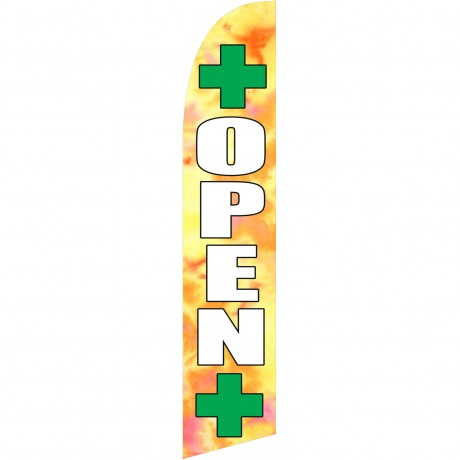 Open Dispensary Windless Swooper Flag
