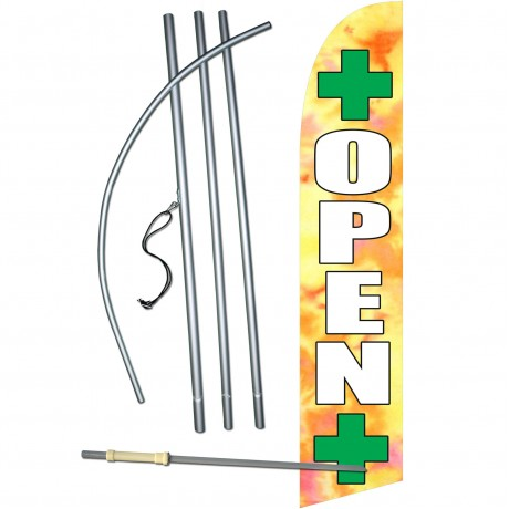 Open Dispensary Windless Swooper Flag Bundle