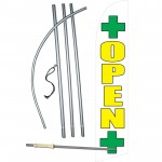 Open Dispensary White Swooper Windless Flag Bundle