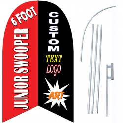 Custom Junior 6' Swooper Flag 2-Sided Bundle