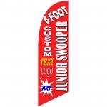 Custom Junior 6' Swooper Flag 1-Sided