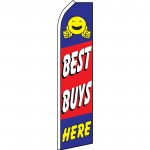 Best Buys Here Red Blue Swooper Flag