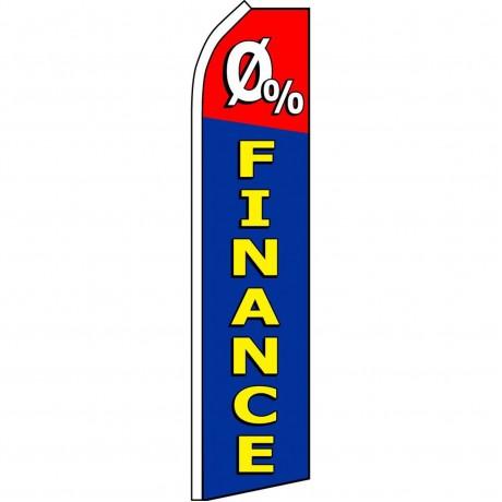 0 Percent Financing Swooper Flag