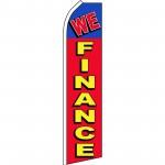 We Finance Red Blue Swooper Flag
