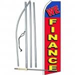 We Finance Red Blue Swooper Flag Bundle
