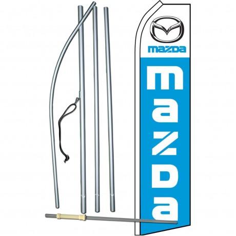 Mazda Blue Swooper Flag Bundle