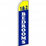 1 & 2 Bedrooms Blue Swooper Flag