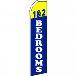 1 & 2 Bedrooms Blue Swooper Flag