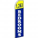 1,2 & 3 Bedrooms Blue Swooper Flag