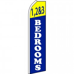 1,2 & 3 Bedrooms Blue Swooper Flag