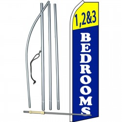 1,2 & 3 Bedrooms Blue Swooper Flag Bundle