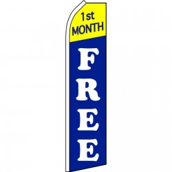 1st Month Free Blue Swooper Flag