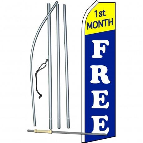 1st Month Free Blue Swooper Flag Bundle