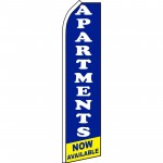 Apartments Now Available Blue Swooper Flag