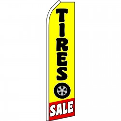 Tire Sale Yellow Swooper Flag