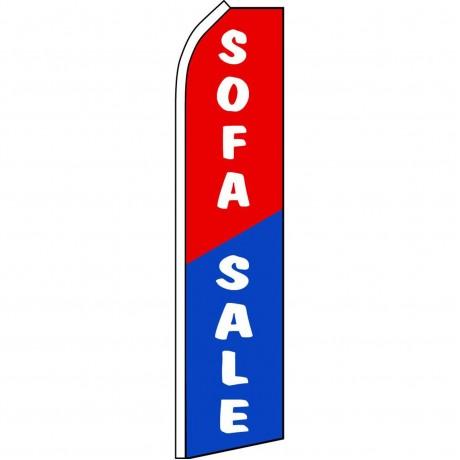Sofa Sale Red Blue Swooper Flag