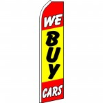 We Buy Cars Yellow Red Swooper Flag