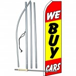 We Buy Cars Yellow Red Swooper Flag Bundle