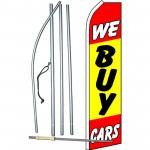 We Buy Cars Yellow Red Swooper Flag Bundle
