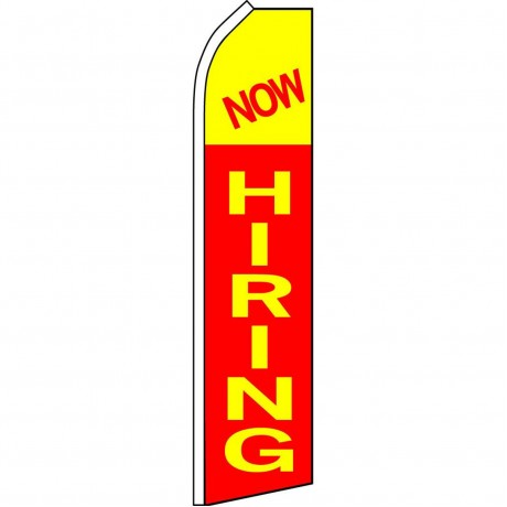 Now Hiring Red Swooper Flag