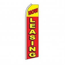 Now Leasing Yellow, Red Swooper Flag