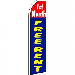 1st Month Free Rent Swooper Flag