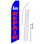 Auto Repair Blue Swooper Flag Bundle