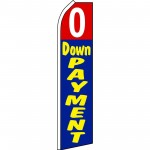 0 Down Payment Blue Red Swooper Flag