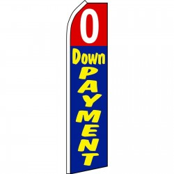0 Down Payment Swooper Flag