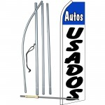 Autos Usados White Swooper Flag Bundle