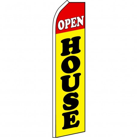 Open House Swooper Flag Yellow