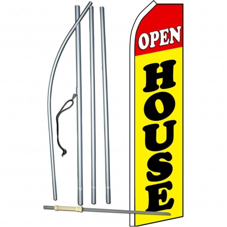 Open House Yellow Swooper Flag Bundle