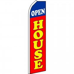 Open House Red Blue Swooper Flag