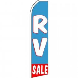 RV Sale Blue Swooper Flag