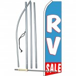 RV Sale Blue Swooper Flag Bundle