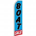 Boat Sale Blue Swooper Flag
