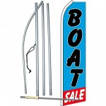 Boat Sale Blue Swooper Flag Bundle