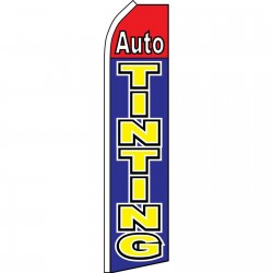 Auto Tinting Blue Red Swooper Flag