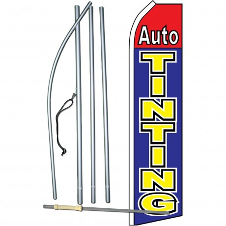 Auto Tinting Blue Red Swooper Flag Bundle