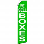 We Sell Boxes Green Swooper Flag