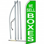 We Sell Boxes Green Swooper Flag Bundle